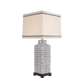 Blue-White-Geometric-Lamp