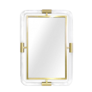 Mirror-with-Round-Lucite-an